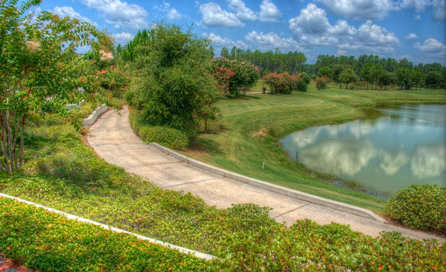Golf cart path at Amelia National Golf and Country Club