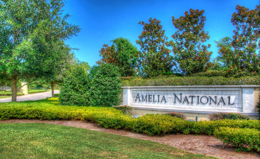 Monument sign at Amelia National Golf and Country Club