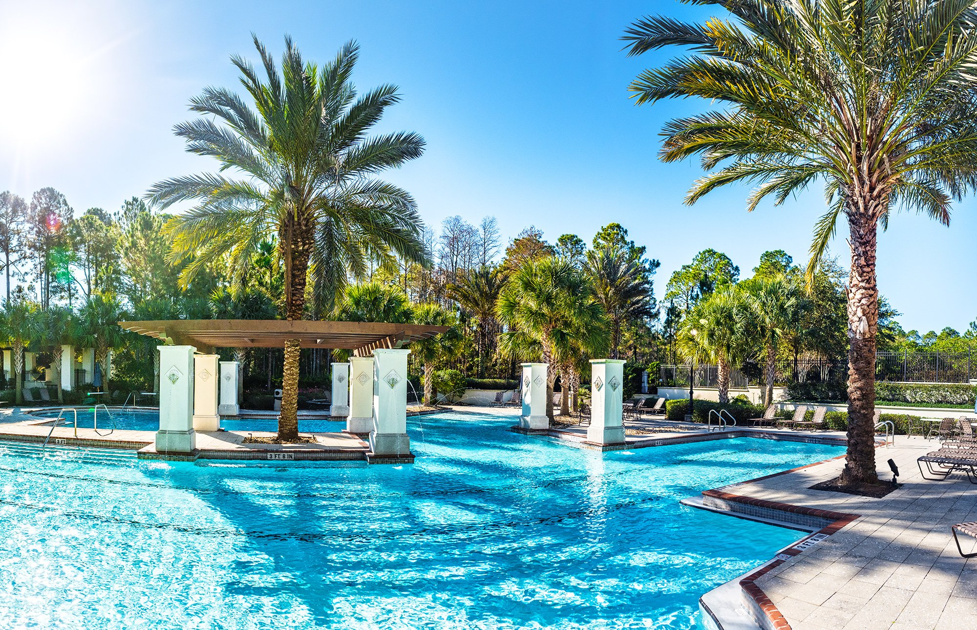 The pool at Amelia National Golf and Country Club