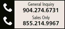General Inquiry - 904.247.6731 | Sales - 855.214.9967